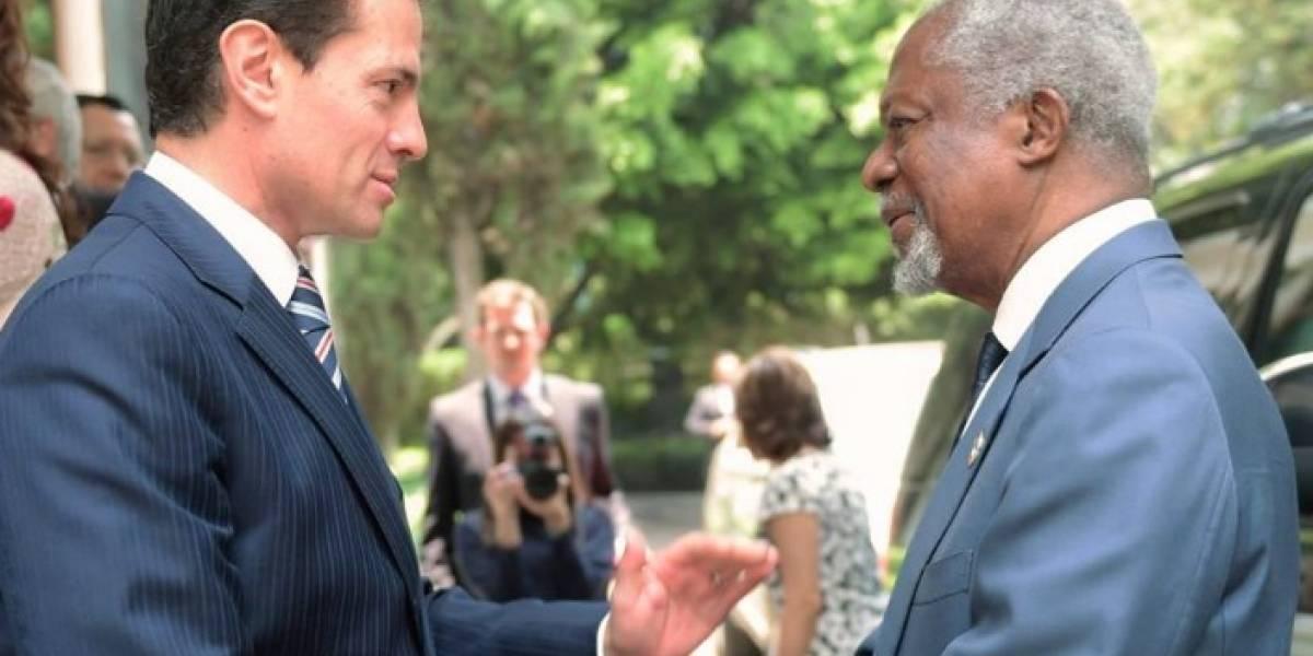 Peña Nieto destaca a Kofi Annan acciones de seguridad en elecciones