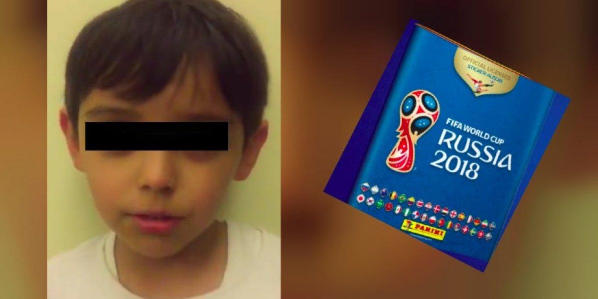 VIDEO: Niño pide ayuda para encontrar su álbum del Mundial
