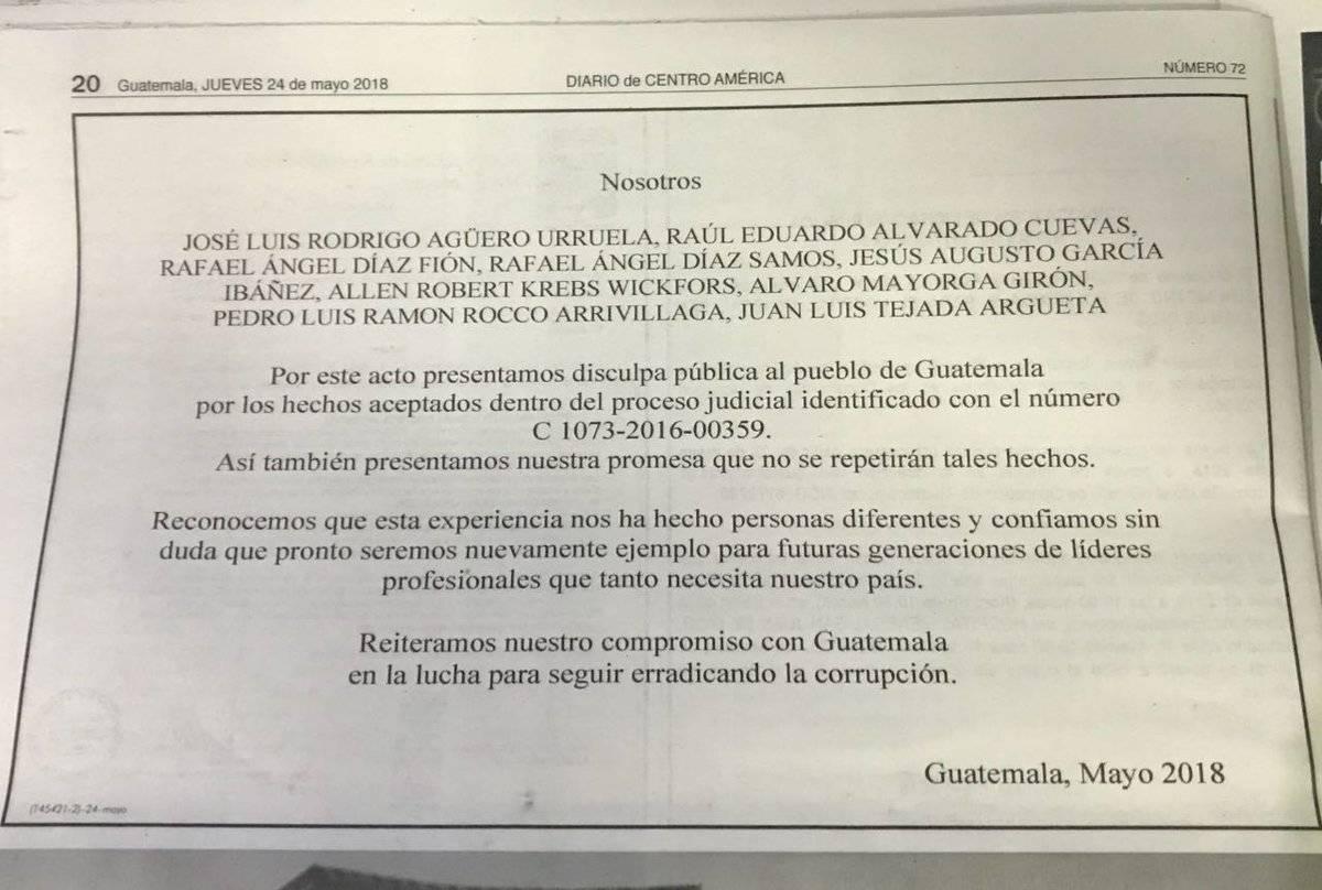 empresarios piden disculpa pública en el caso Construcción y Corrupción