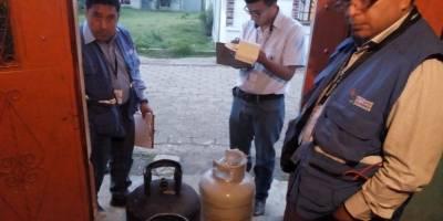Faltante en cilindro de gas propano
