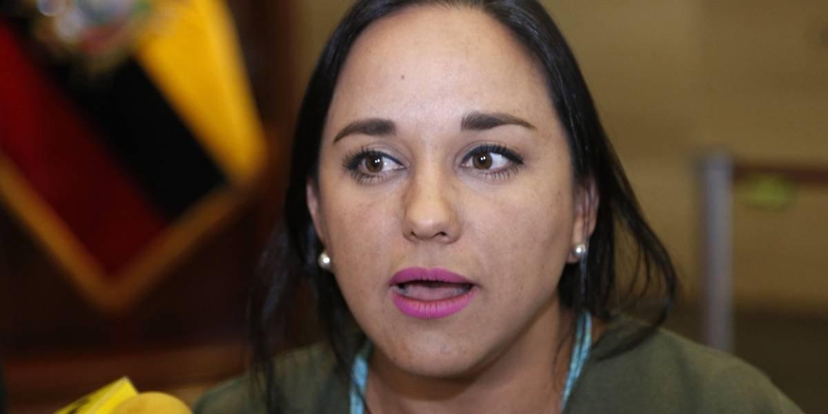 Gabriela Rivadeneira reacciona al primer Informe a la nación de Lenín Moreno