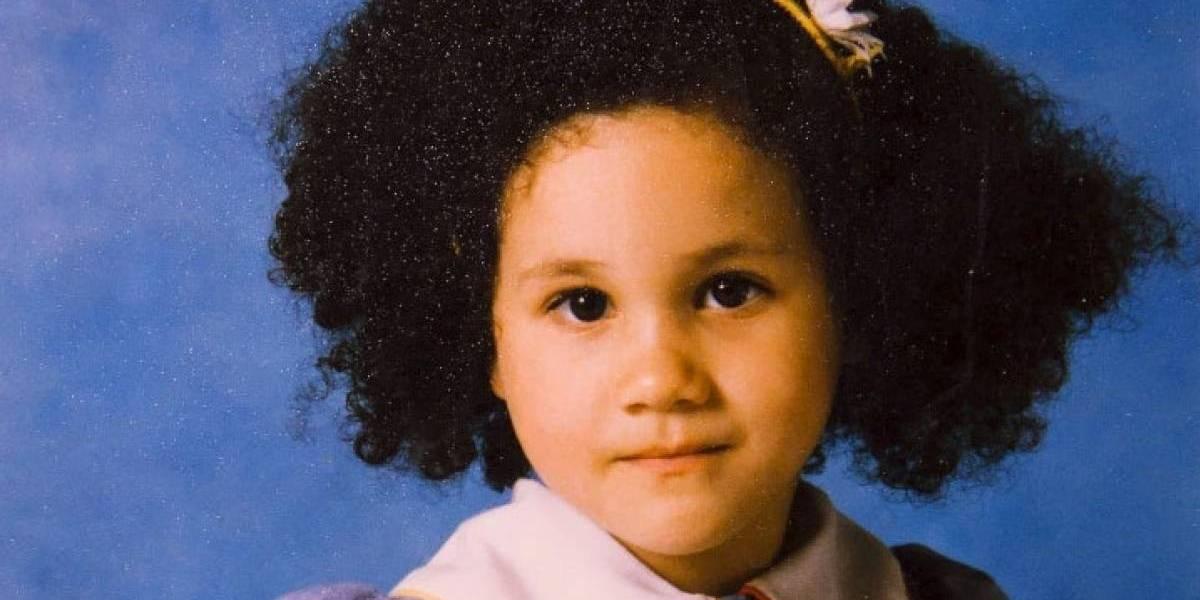 Con afro y muy diferente, así lucía Meghan Markle de pequeña