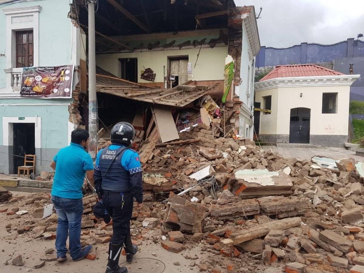 Colapso estructural de vivienda patrimonial en el centro de Quito Cortesía