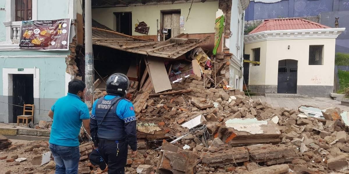 Colapso estructural de vivienda patrimonial en el centro de Quito