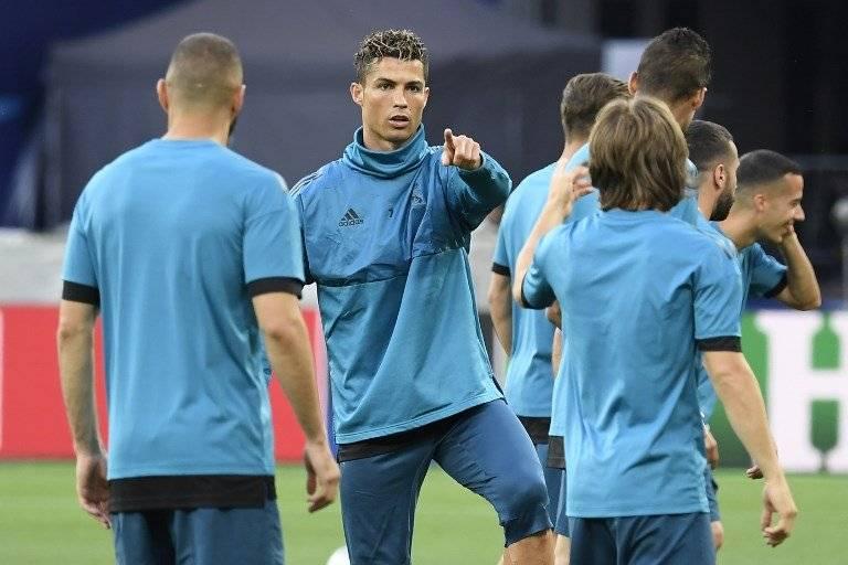 Cristiano en una práctica del Madrid