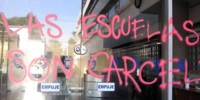 Vandalismo en la Facultad de Derecho de la UNAM