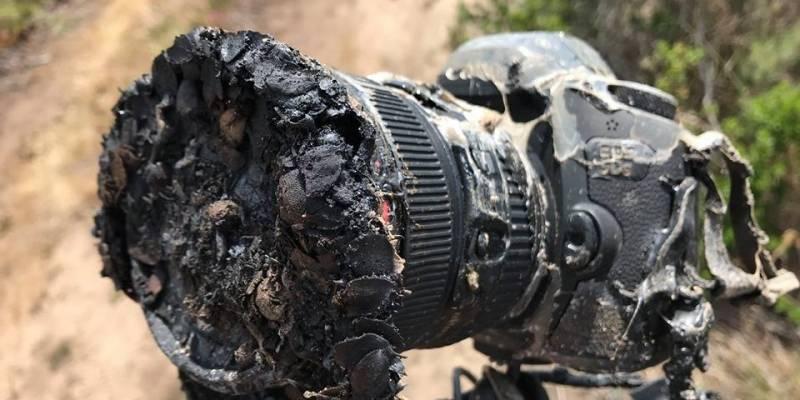 Esta cámara fotográfica terminó frita sacando fotos de lanzamiento de SpaceX