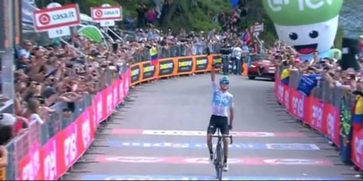 Richard Carapaz recibe apoyo de ecuatorianos tras segundo lugar en Italia