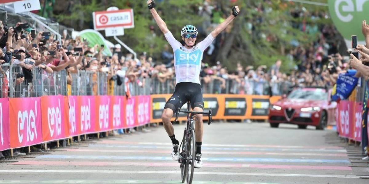 Chris Froome protagonizó un feroz ataque que lo dejó como indiscutido líder del Giro de Italia