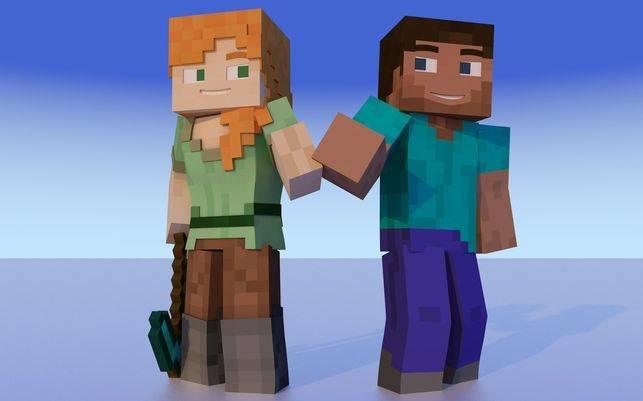 Minecraft Alex y Steve