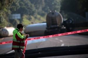 Accidente en la carretera México - Cuernavaca