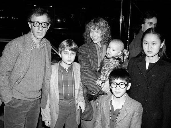 Woody Allen Mía Farrow Moses Farrow