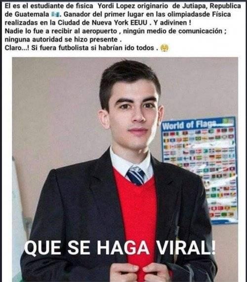 "Noticia falsa de ""Brillante guatemalteco"""