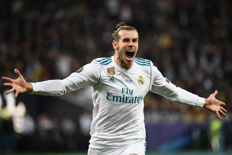 Gareth Bale celebra uno de sus dos tantos