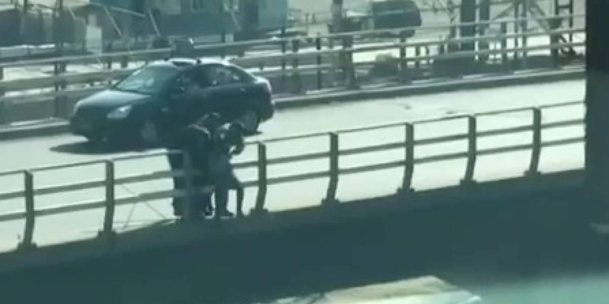 Espectacular rescate en Valparaíso: Carabineros frustró intento de suicidio