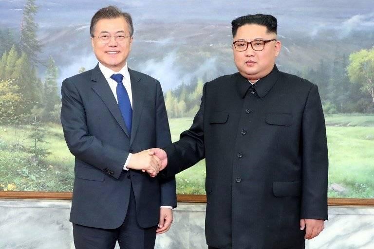 Kim Jong-un y Moon Jae in