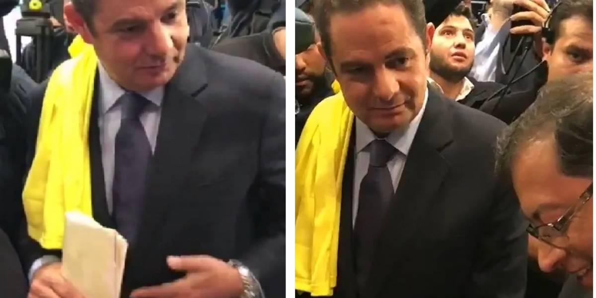 El inédito chiste de Vargas Lleras a Petro sobre sus seis hijos al terminar el debate