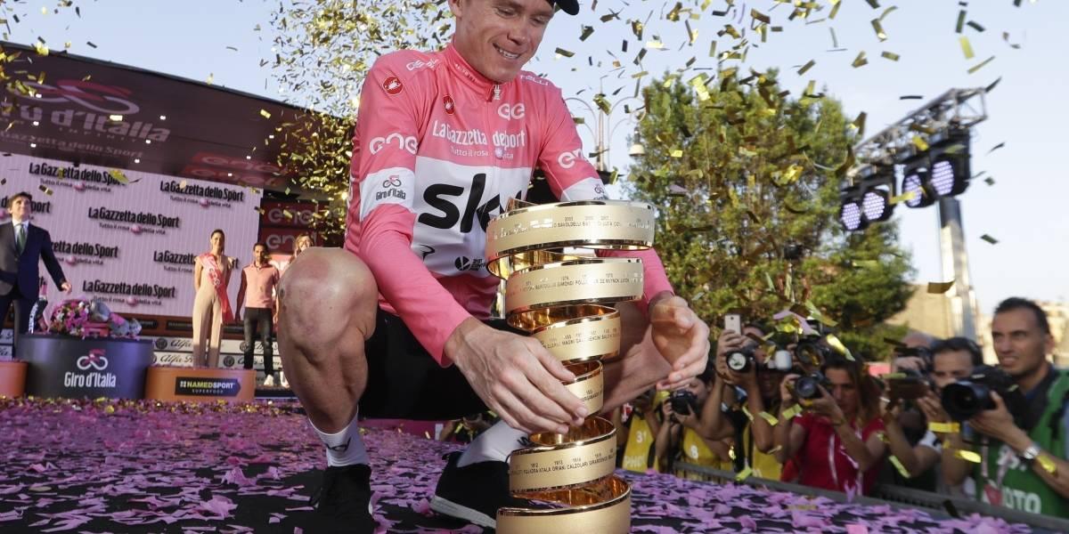 Chris Froome entró en la historia del ciclismo al conquistar por primera vez el Giro de Italia