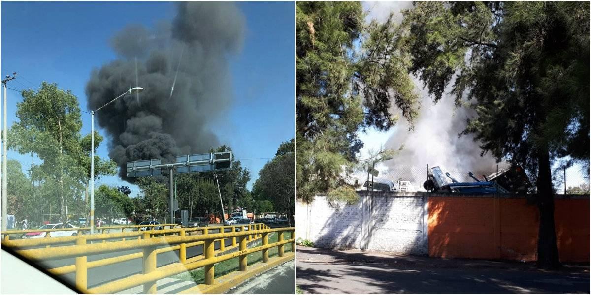 Se incendia bodega del GCDMX en San Juan de Aragón