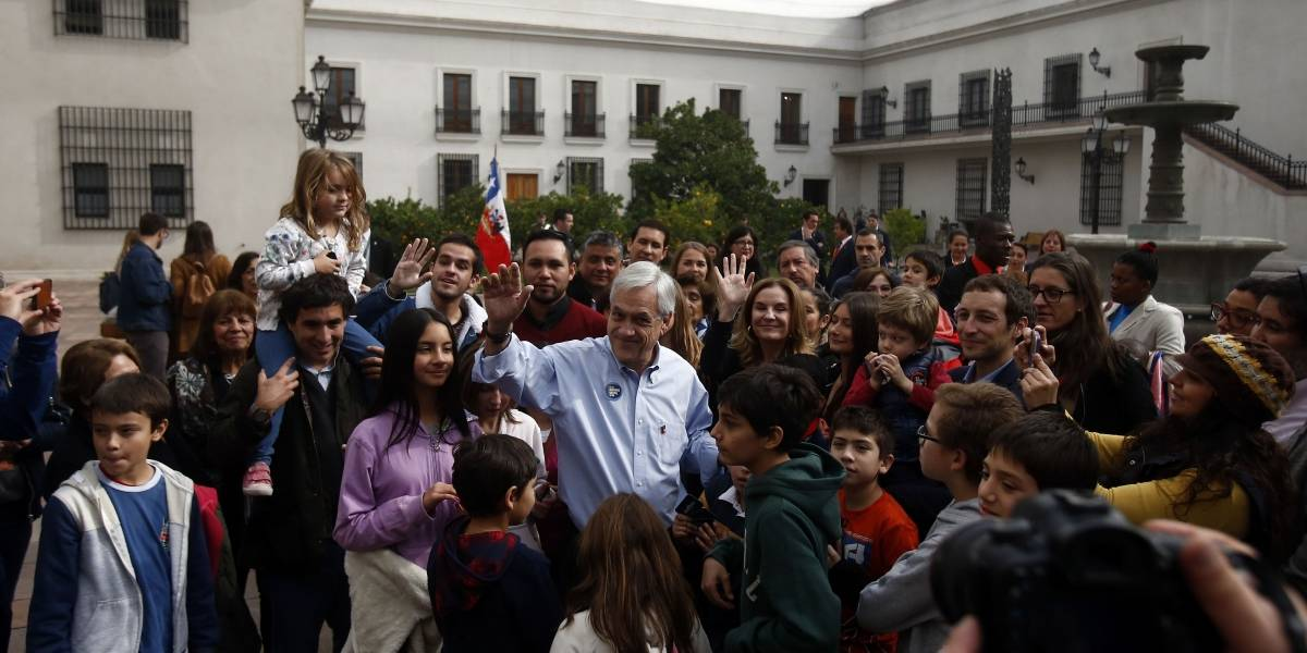 Día del Patrimonio: Presidente Piñera guió a visitantes de La Moneda