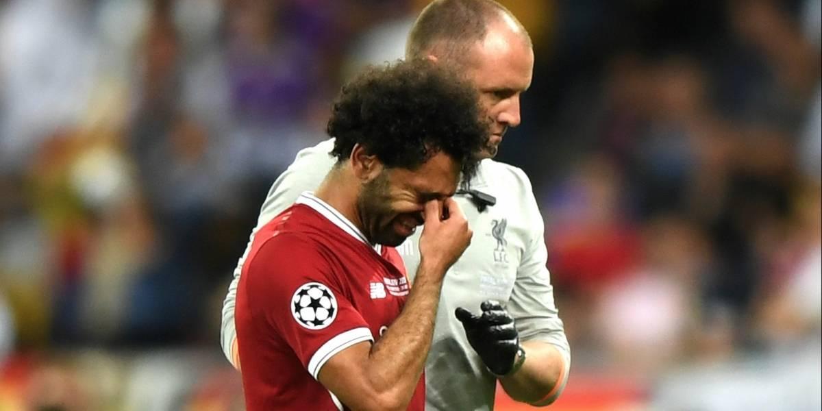En redes sociales, Mohamed Salah envió un mensaje sobre su lesión