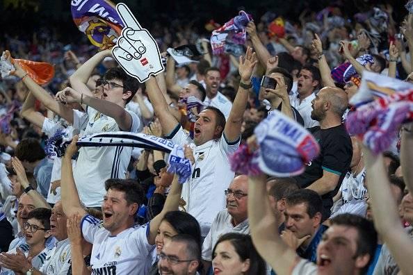 La hinchada del Madrid se fue feliz de Kiev - Getty Images
