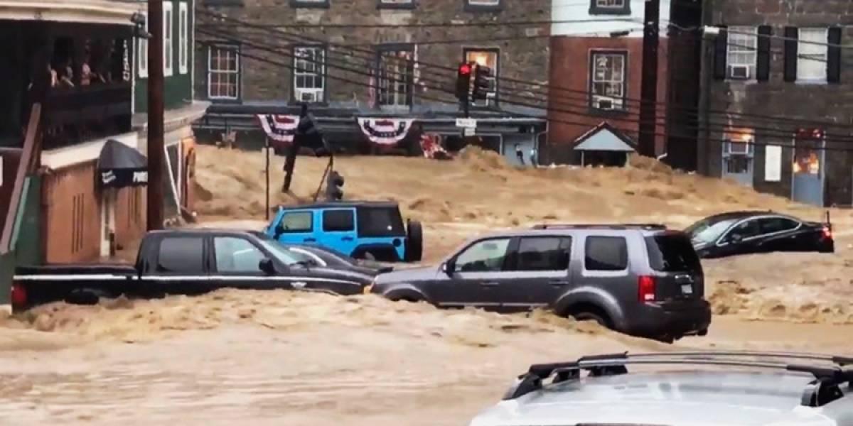 VIDEO. Inundaciones repentinas azotan ciudad en Maryland