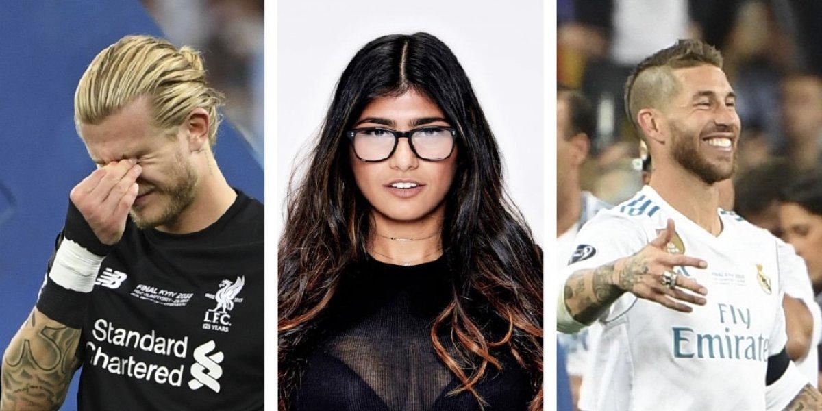 Mia Khalifa lanza mensaje de apoyo al portero del Liverpool e insulta a Sergio Ramos