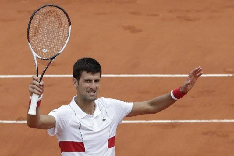 Djokovic celebra tras su victoria