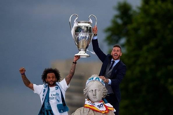 Salah no fue el único: Sergio Ramos propinó un codazo al portero Karius en la final de la Champions League Getty