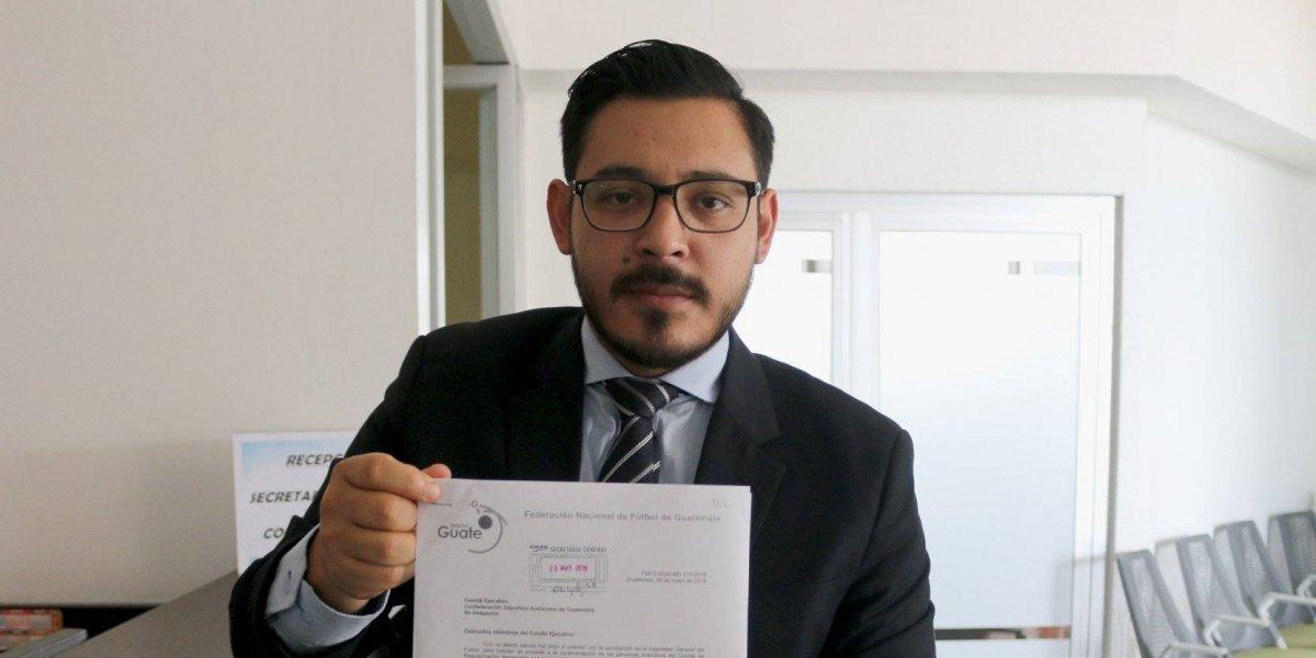 CDAG recibe documento donde Comité de Regularización fue reconocido por Asamblea del Futbol