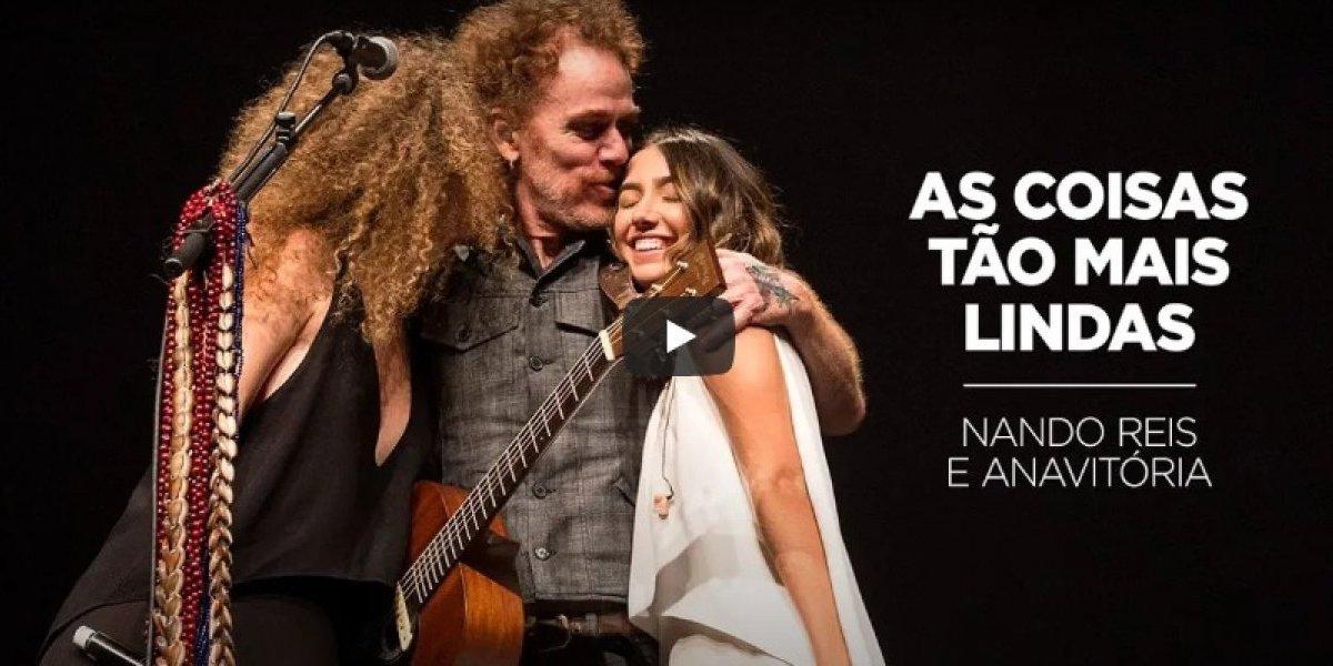 As Coisas Tão Mais Lindas: Nando Reis e Anavitória liberam vídeo da canção