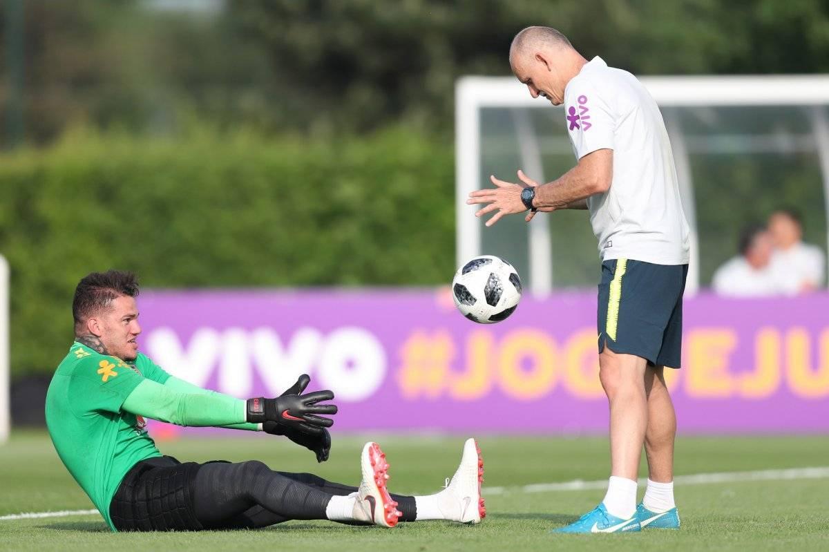 Ederson e Taffarel Lucas Figueiredo/CBF