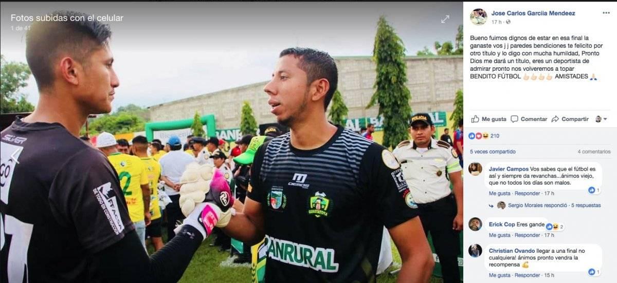 García y Paredes se saludaron al finalizar el partido