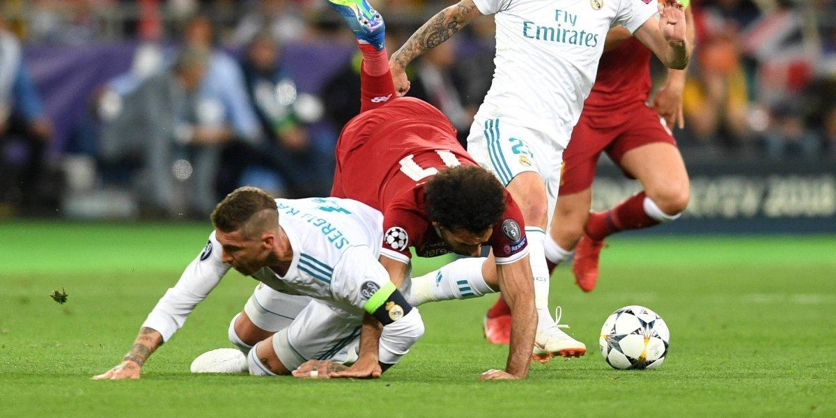 El más odiado del mundo: falta de Ramos sobre Salah en la final de la Champions está prohibida hasta en el judo