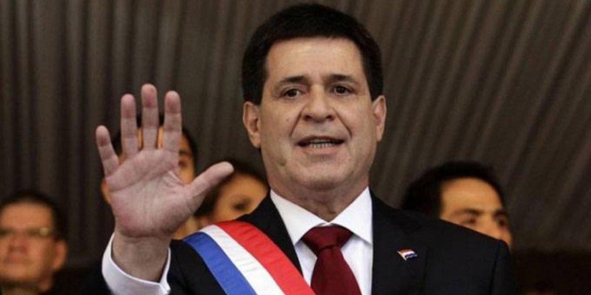Presidente de Paraguay Horacio Cartes presenta su renuncia