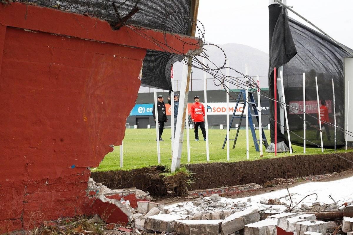Juan Pinto Durán también sufrió los avatares del fuerte viento