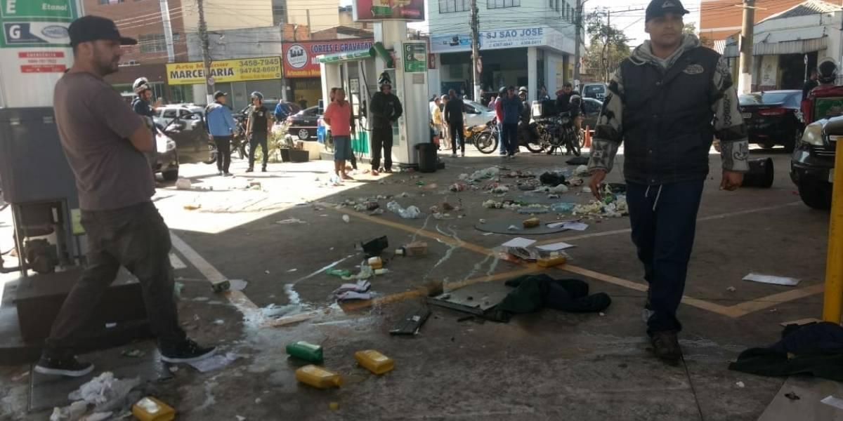 Posto de combustíveis é depredado em São Bernardo