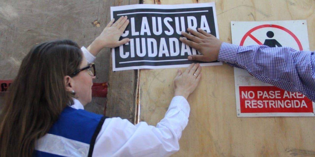 Magui Fisher acompaña a 'clausura ciudadana' de predios en la Escandón