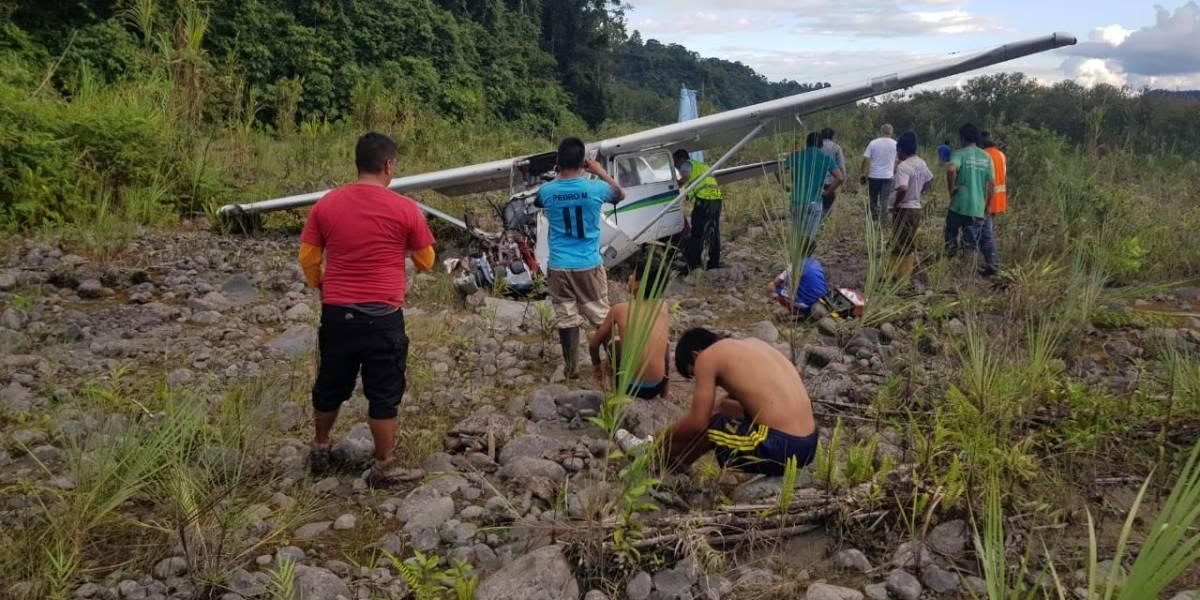 Un herido tras accidente de avioneta en Macas