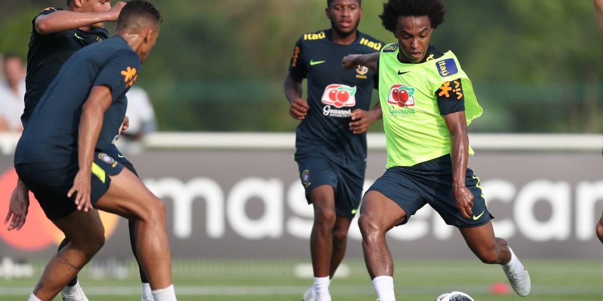 Willian vê evolução 'muito grande' do Brasil e exalta Hazard como o melhor belga