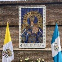 Virgen del Rosario de Guatemala en los jardines del Vaticano