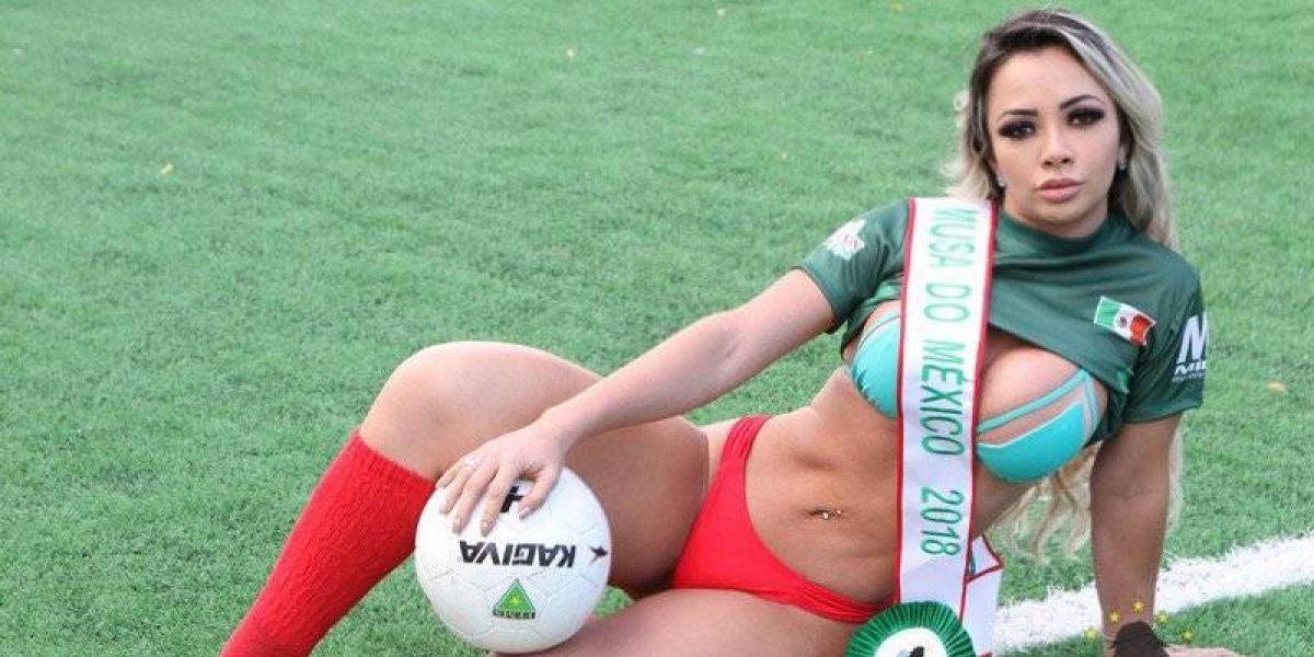 Ella es Sheyla Mell, la Miss Bum Bum que quiere ser Musa de la Copa del Mundo