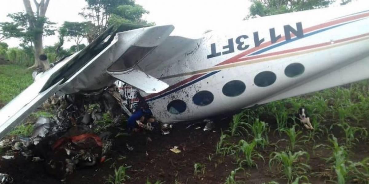 Encuentran droga en avioneta accidentada en Quetzaltenango