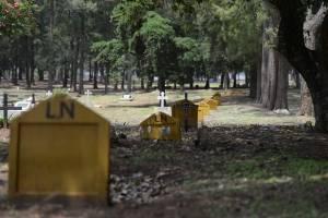 """""""LN"""" es Línea Norte; así identifican a los sectores de XX en el cementerio La Verbena, en la zona 7."""