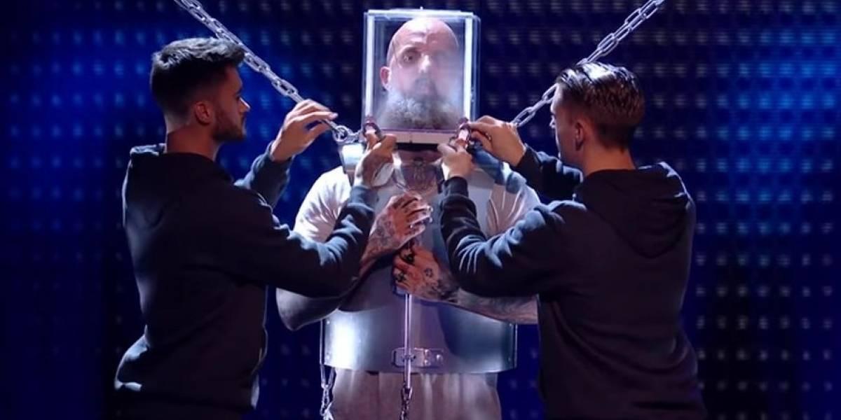 Dejó a todos con los pelos de punta: Ilusionista casi muere durante programa de talentos en vivo