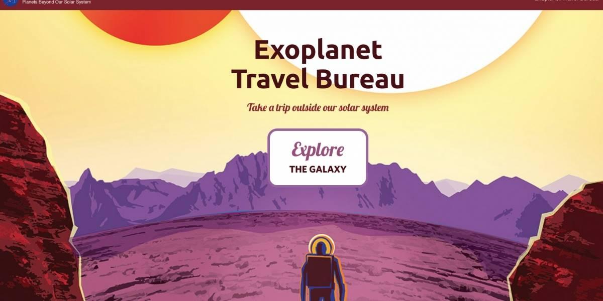 ¿Quieres saber qué se siente caminar en un exoplaneta? La NASA publicó este sitio web para que puedas averiguarlo