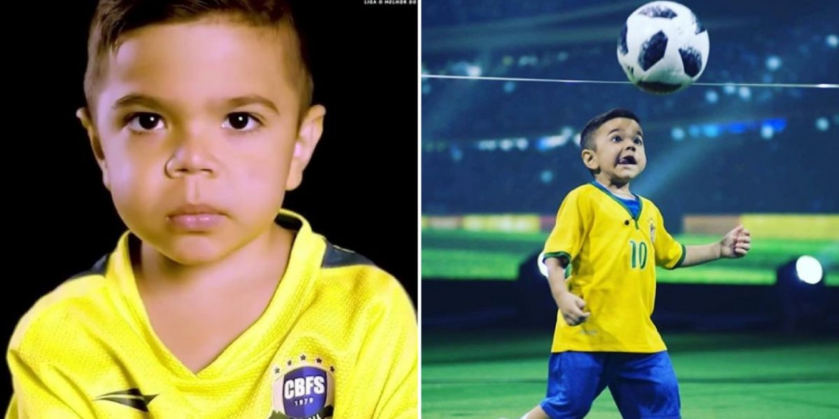 Brasileiro de seis anos luta contra doença incurável e mostra talento para o futebol nas redes sociais