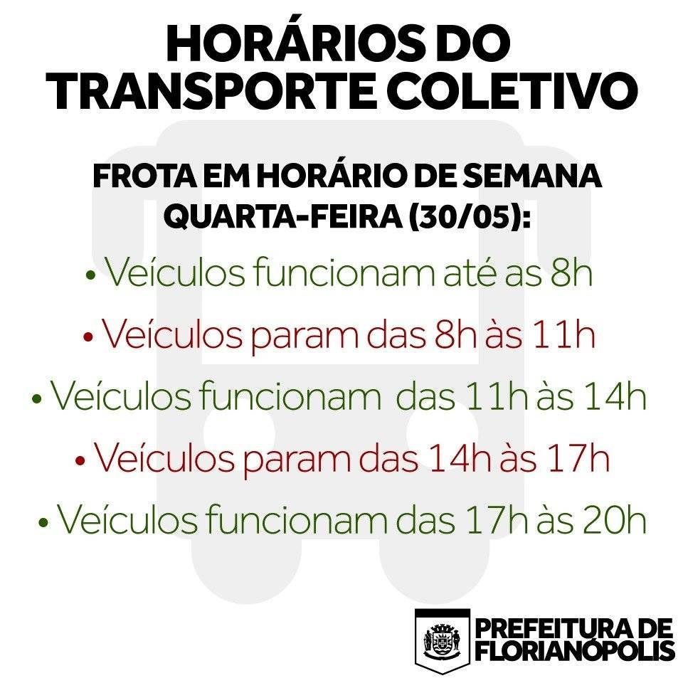 Florianópolis horários ônibus greve