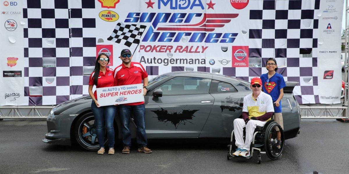 Propietarios de Nissan GT-R se convierten en protagonistas del MDA Super Heroes Poker Rally